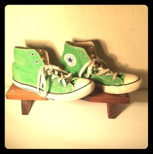 Green Converse Hightops